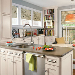Laminate Cabinets in Casual Kitchen - Aristokraft -