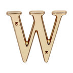 "Renovators Supply - House Numbers Bright Solid Brass 4"" House Letter W - Made of solid brass, these polished die cast letters are made to withstand the elements. Measuring 4 in. high, they are easily seen from the curb. They will update your home's exterior!"