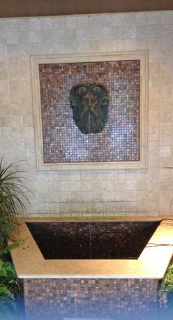 "Landmark Metalcoat - Neptune Head Fountain 18"" X 14"" X 9"" - Landmark Metalcoat"