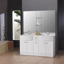 Dreamline Eurodesign Double Vanity DLVRB-314-147 White - PRODUCT SPECIFICATIONS