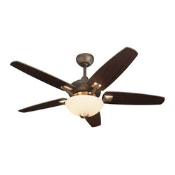 Monte Carlo Fans - Monte Carlo Fans-5VSR44RID-L-Versio II - 44'' Ceiling Fan - Premium power 153 X 12 mm torque-induction motor for whisper quite operation