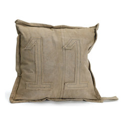 #11 Gypsy Pillow - Bring a sober element into your decor with this simple yet elegant gypsy pillow. The key highlight of this pillow from European collection is the number eleven stitched on it. Made up of recycled vintage tent canvas, this durable stuff gypsy pillow will last longer. A perfect treat for your back in a casual sitting, this pillow is sure to become one of your favorite pillows.