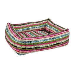 Bowsers Diamond Series Cotton Dutchie Dog Bed - The oversized bolster walls of the Bowsers Diamond Series Cotton Dutchie Dog Bed keep your pup feeling safe and secure, while the super-soft cotton upholstery looks great and is easy to clean. The removable cushion is easy to wash, and will keep its shape no matter what. Washing Instructions Unzip outer covers and remove cushion. Rezip covers and wash and dry on cool setting. Hand-wash inner bolster and cushion insert. About BowsersSince 1998, Bowsers has been a leader in quality pet products. Focusing on high-quality material, superior craftsmanship, and a wide array of over 65 upholstery fabrics, Bowsers' practical designs have created a revolution in the way many people think of pet products. The interior design team led by Eileen Wilkes and Linda Brown ensures that the award-winning designs reflect the latest contemporary trends in home decor.