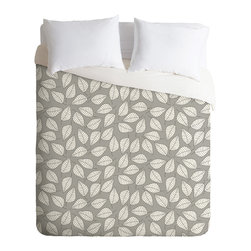 DENY Designs - DENY Designs Bianca Green Leafy Duvet Cover - Lightweight - Turn your basic, boring down comforter into the super stylish focal point of your bedroom. Our Lightweight Duvet is made from an ultra soft, lightweight woven polyester, ivory-colored top with a 100% polyester, ivory-colored bottom. They include a hidden zipper with interior corner ties to secure your comforter. It is comfy, fade-resistant, machine washable and custom printed for each and every customer. If you're looking for a heavier duvet option, be sure to check out our Luxe Duvets!