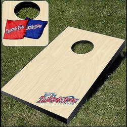 "Wild Sports® Bean Bag Toss - - This game, widely known as Corn Toss or Cornhole (Let's stick with the former for our purposes), is totally awesome. It makes uncoordinated, unathletic people like me feel like we're good at ""a sport."""