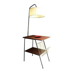 Mid-Century Wrought Iron Table & Lamp Combo - $950 Est. Retail - $625 on Chairis -