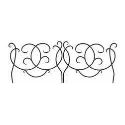 "Achla - Decorative Scrolling Garden Edging in Powder - Curves abound in this lovely Decorative Scrolling Edging.  Each 22"" high by 24"" long segment features sweeping curves and appealing scrollwork.  The edging is crafted of iron and powdercoated in midnight black to provide the ultimate in beauty and durability. * Made of Iron. Black Powdercoat finish. 22 in. H x 24 in. W"