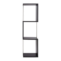 """BZBZ62595 - Artistic Metal Wood Display Shelf Made with Stainless Steel - Artistic metal wood display shelf made with stainless steel. Serving specialty, this piece is made for exciting presence and performance. It comes with a dimension of 24"""" W x 12"""" D x 78"""" H. Some assembly may be required."""