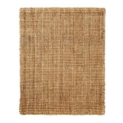 Anji Mountain - Everest Natural Jute Rug - 5' x 8' - Jute brings a magnificent, chunky texture to any space. These rugs are expertly handloom-woven by skilled weavers who employ a variety of traditional techniques to create these simply beautiful styles. Jute fibers exhibit naturally anti-static, insulating and moisture regulating properties. It is predominantly farmed by approximately four million small farmers in India and Bangladesh and supports hundreds of thousands of workers in jute manufacturing (from raw material to yarn and finished products).