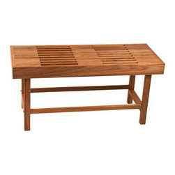 Teakworks4u - Plantation Teak Rigid Leg Bench with Slats - This bench is perfect for an outside setting, or any area with high humidity. Add this to your steam room, sauna, shower, or outside. This is a high quality bench, handcrafted in the USA.