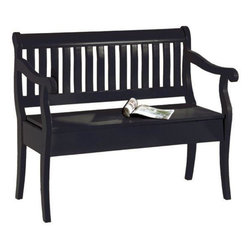 Home Decorators Collection - Hamilton Storage Bench - As an addition to your entryway furniture or to complete any other space in your home, this bench from our Hamilton Collection offers an interesting design that blends both contemporary and traditional elements for an effect that you are sure to love. The seat lifts to expose a convenient storage area that's perfect for shoes, hats, gloves and other necessities. Order yours today and complete your home decor. Expertly crafted of wood. Your choice of warm finish completes the look.