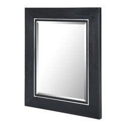 """Xylem - Manhattan 25"""" x 30"""" Wall Mirror - The Manhattan collection from Xylem exudes sophisticated elegance. This wall mirror is the perfect complement for the Manhattan vanity series. Features: -Wall mirror. -Manhattan collection. -Solid Poplar with Cherry Veneer Construction. -Can Be Mounted Vertically. -Available in black or white finish. -It has sophisticated elegance. -It is the perfect complement for the Manhattan vanity series. -Overall dimensions: 30"""" H x 25"""" W x 2.2"""" D."""