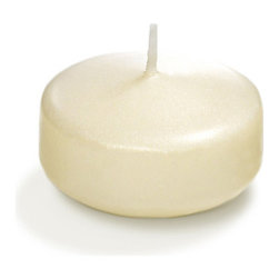 """Neo-Image Candlelight Ltd - Set of 18 - Yummi 2.25"""" Ivory Pearlescent Floating Candles - Our unscented 2.25"""" Pearlescent Floating Candles are ideal when creating a beautiful candlelight arrangement for the home or wedding decor.  Available in 7 trendy pearlescent candle colors hand over dipped with white core to match and compliment your home decor or wedding centerpiece decoration."""