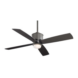 "MinkaAire - MinkaAire F734-SI Smoked Iron Strata Strata 4 Blade 52"" Indoor / - MinkaAire Strata Four Blade 52"" Indoor / Outdoor Ceiling Fan - Light, Remote, and Blades IncludedThe Strata with its Smoked Iron or Galvanized finishes adds a rustic yet contemporary style to your home.MinkaAire Strata Features:Lifetime Motor WarrantyCap included for non light use3.5"" and 6"" Downrods IncludedHand Held Remote Control IncludedIntegrated LightIndoor / Outdoor UseMinkaAire Strata Specifications:Includes (1) x 100 Watt Mini Can Base Halogen BulbBlade Span: 52""Number of Blades: 4Galvanized Finish Includes Silver Blades, Smoked Iron Finish Includes Smoked Iron BladesBlade Pitch: 12 DegreesCFM: 5500Downrods Included: (1) x 3.5"", (1) x 6""Included Controls: RemoteOptional Controls Available: Wall ControlHeight: 13""Width: 52""UL Listed for Wet LocationMinkaAire invites you to view our ceiling fan collection design to fit today s varying lifestyles. Whether you are looking for a large fan for a Great Room, a stylish ceiling fan for your outdoor application, or simply that perfect smart contemporary fan that will bring your room together, MinkaAire offers a design for every application in your home."