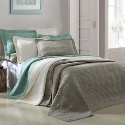 None - Camden 3-piece Microfiber Coverlet - This classic Camden coverlet adds a touch of easy,elegant charm to your bedroom with its clean design and tasteful available color selection. In your choice of several beautiful colors,this set is the perfect choice for your home.