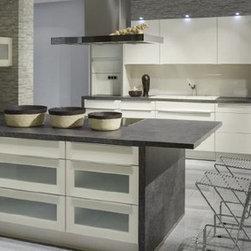 Lacquer white high gloss modern kitchen -