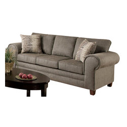 Chelsea Home Furniture - Chelsea Home Camden Sofa in Romance Graphite - Channing Taupe Pillows - Camden Sofa in Romance Graphite - Channing Taupe Pillows belongs to the Chelsea Home Furniture collection .