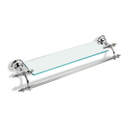 24 Inch Classic Glass Shelf with Towel Bar by StilHaus