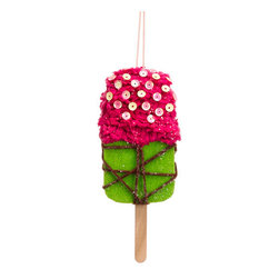 Silk Plants Direct - Silk Plants Direct Glittered Ice Cream Bar Ornament (Pack of 12) - Pack of 12. Silk Plants Direct specializes in manufacturing, design and supply of the most life-like, premium quality artificial plants, trees, flowers, arrangements, topiaries and containers for home, office and commercial use. Our Glittered Ice Cream Bar Ornament includes the following: