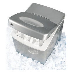 Sunpentown - Portable Ice Maker - A self-contained ice maker: compact, easy to use and requires no installation. Makes 3 different ice cube sizes. Ideal for home bars, recreation rooms, boats...almost anywhere. Just a few simple steps and you'll get the first batch of 12 cubes in less than 10 minutes! Makes up to 2lbs of ice in an hour and up to 35lbs of ice in 24 hours. Highly portable, you can enjoy cool, refreshing ice wherever 115V outlet (and water) is available.