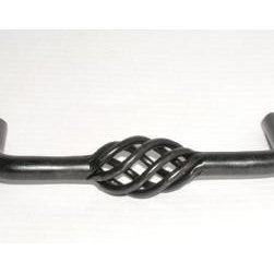 Top_Knobs - Top Knobs - Twisted Wire D Pull 3 3/4 CC - Patina Black - M653 - Normandy Collection, Steel Base Material,  Weight: 0.15 Lbs