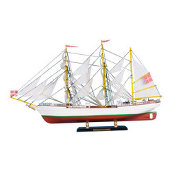 "Handcrafted Model Ships - Danmark Limited 21"" - Wooden Ship Model - Sold fully assembled"