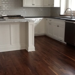 """Walnut Floors - 3/4"""" natural walnut installed, sanded and finished on home."""