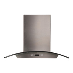 Ariel - Cavaliere-Euro SV218D-I36 Stainless Steel Island Mount Range Hood - Cavaliere Stainless Steel 218W Island Mounted Range Hood with 6 Speeds, Timer Function, LCD Keypad, Aluminum Grease Filters, and Halogen Lights