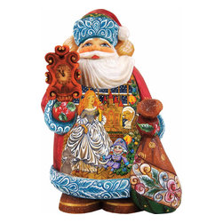 """Artistic Wood Carved Santa Claus Nutcracker Sculpture - Measures 5""""H x 5""""L x 4""""W and weighs 1 lb. G. DeBrekht fine art traditional, vintage style sculpted figures are delightful and imaginative. Each figurine is artistically hand-painted with detailed scenes including classic Christmas art, winter wonderlands and the true meaning of Christmas, nativity art. In the spirit of giving G.DeBrekht holiday decor makes beautiful collectible Christmas and holiday gifts to share with loved ones. Every G. DeBrekht holiday decoration is an original work of art sure to be cherished as a family tradition and treasured by future generations. Some items may have slight variations of the decoration on the decor due to the hand painted nature of the product. Decorating your home for Christmas is a special time for families. With G. DeBrekht holiday home decor and decorations you can choose your style and create a true holiday gallery of art for your family to enjoy."""