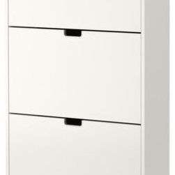 Sarah Fager - STÄLL Shoe cabinet with 3 compartments - Shoe cabinet with 3 compartments, white