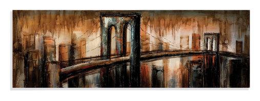 Bassett Mirror - Bassett Mirror Hand-Painted Canvas, The Bridge - The Bridge