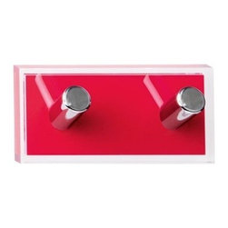 Gedy - Red Double Hook made of Thermoplastic Resins - Imported from Italy by Gedy, this trendy robe hook perfectly compliments modern bathrooms.