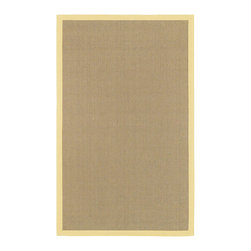 "Yellow BAY Rug - 7'9"" Round - The hand woven sisal rugs of the Bay collection are perfect for any decor, modern or classic. The elegantly simple hand woven design is available with a border in six different colors, perfect for matching any room."