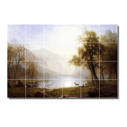 Picture-Tiles, LLC - Valley In Kings Canyon Tile Mural By Albert Bierstadt - * MURAL SIZE: 32x48 inch tile mural using (24) 8x8 ceramic tiles-satin finish.