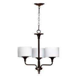 Quorum Lighting - Quorum Lighting Rockwood Transitional Chandelier X-68-3-0906 - The Quorum Lighting Rockwood transitional Chandelier gives any home the right type of lighting and with classic arms, this Chandelier is going to be just what you need for bathrooms, dining rooms, and even living rooms. This Chandelier offers a unique and classic look to any home and will add in a sense of elegance and simplicity. The diffusers used with this light allow your home to illuminate any room.