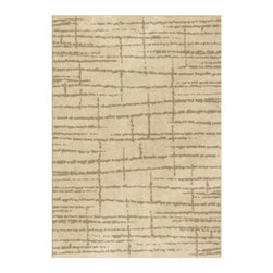 """Grandin Road - Uber Lambswool Area Rug - 3'11"""" x 5'5"""" - Plush area rug in neutral hues. 100% polypropylene with the feel of soft, natural wool. 1"""" thick. Extend the life of your rug with a nonslip rug grip (sold separately). With a plush pile and abstract design that, together, resemble a traditional Flokati, the Uber Lambswool area rug offers exceptional softness underfoot and chic, modern flair for your floor.. . . . Made in the USA."""