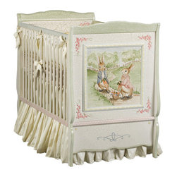 Enchanted Forest Cottage Crib - This crib is as charming as they come. The panels features hand-painted bunny scenes reminiscent of Peter Rabbit storybook tales.