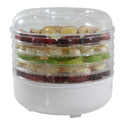 New Buffalo Corp. - Amerihome 5-Tray Electric Food Dehydrator - You can safely and easily make trail mix, jerky, dried fruits and fruit leathers without commercial sweeteners or preservatives using the Amerihome 5-Tray Electric Food Dehydrator. Make your favorite healthy or low carb snacks at home.