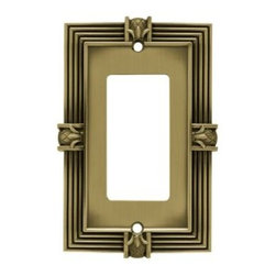 Liberty Hardware - Liberty Hardware 64473 Pineapple WP Collection 3.15 Inch Switch Plate - A simple change can make a huge impact on the look and feel of any room. Change out your old wall plates and give any room a brand new feel. Experience the look of a quality Liberty Hardware wall plate. Width - 3.15 Inch, Height - 4.9 Inch, Projection - 0.3 Inch, Finish - Tumbled Antique Brass, Weight - 0.28 Lbs.