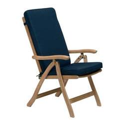 Fifthroom - Teak Estate Reclining Chair - This Estate Reclining Chair will put you in a position to enjoy the finer aspects of outdoor living.  Simply adjust it to your favorite angle, and you can lean back and enjoy your favorite drink, read a book, or take a snooze in comfort. It's the perfect easy chair for your porch, patio, deck, or gazebo.