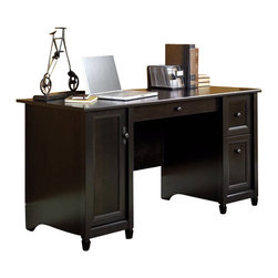 Sauder - Sauder Edge Water Computer Desk in Estate Black - Sauder - Computer Desks - 408558 - Sure lots of office and home furnishing manufacturers can help you create an organized comfortable and fashionable place to live. But Sauder provides a special kind of furniture that is practical and affordable as well as attractive and enduring. As North America's leading producer of ready-to-assemble furniture we offer more than 500 items that have won national design awards and generated thousands of letters of gratitude from satisfied consumers.  Features:
