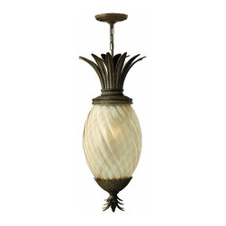 Hinkley - Hinkley Plantation One Light Pearl Bronze Outdoor Pendant - 2122PZ - This One Light Outdoor Pendant is part of the Plantation Collection and has a Pearl Bronze Finish. It is Outdoor Capable, and Damp Rated.