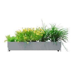 SHIFT_DESIGN - Bolton Long Planter, Grey - Outdoor Planter