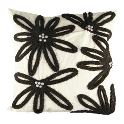 Design Accents - Design Accents Embroidered Flower Pillow - 20L x 20W in. - DA11-1-20X20-CINNABAR - Shop for Pillows from Hayneedle.com! Buy yourself a bouquet that will never wilt with the stylish Design Accents Embroidered Flower Pillow - 20L x 20W in.. This high-quality cotton design is available in a variety of colors so you can mix match and get the look that's just right for you. The embroidered floral design is sure to add a charming accent to your home. Removable cover is zippered for your convenience.