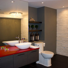 Eclectic Bathroom by OakWood Renovation Experts