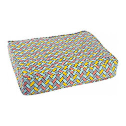 Molly Mutt - Under Pressure Duvet, Small - inspired by subway tile designs and infused with a mid-century color pallet to bring a bit of flair to a classic design.