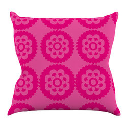 "Kess InHouse - Nicole Ketchum ""Moroccan Hot Pink"" Throw Pillow (16"" x 16"") - Rest among the art you love. Transform your hang out room into a hip gallery, that's also comfortable. With this pillow you can create an environment that reflects your unique style. It's amazing what a throw pillow can do to complete a room. (Kess InHouse is not responsible for pillow fighting that may occur as the result of creative stimulation)."