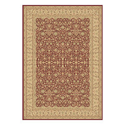 """Dynamic Rugs - Dynamic Rugs Legacy 58004-300 (Red) 6'7"""" x 9'6"""" Rug - Legacy is yet another superb collection with magnificent styling and priced to fit any budget. Legacy is densely Woven on wilton loom with high quality heat-set polypropylene that is anti-static with highest color fastness."""