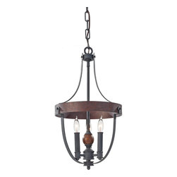 Murray Feiss - Murray Feiss F2795/3AF/CBA Alston 3 Bulb AF/Charcoal Brick/Acorn Chandelier - Murray Feiss F2795/3AF/CBA Alston 3 Bulb AF/Charcoal Brick/Acorn Chandelier