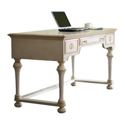 Riverside Furniture - Riverside Furniture Placid Cove Writing Desk in Honeysuckle White - Riverside Furniture - Writing Desks - 16730 - Riverside's products are designed and constructed for use in the home and are generally not intended for rental, commercial, institutional or other applications not considered to be household usage.